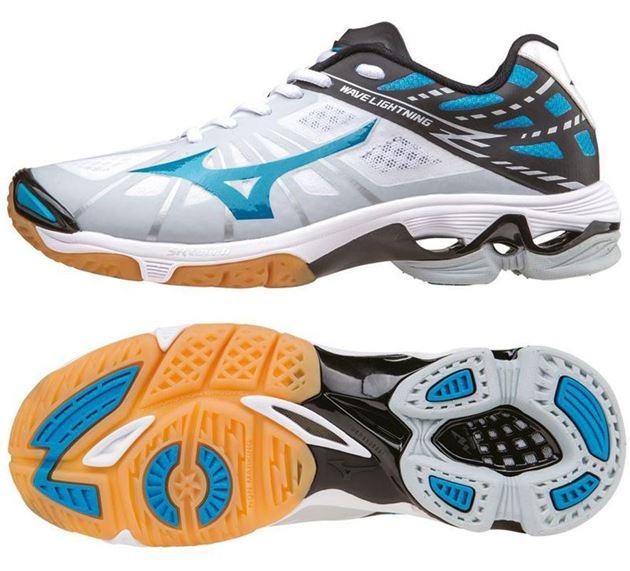 new arrivals 4d1d4 fddea mizuno wave lightning z dame hvit turkis no sko fra adidas nike og puma nor  contact ... FOTBALLSKO