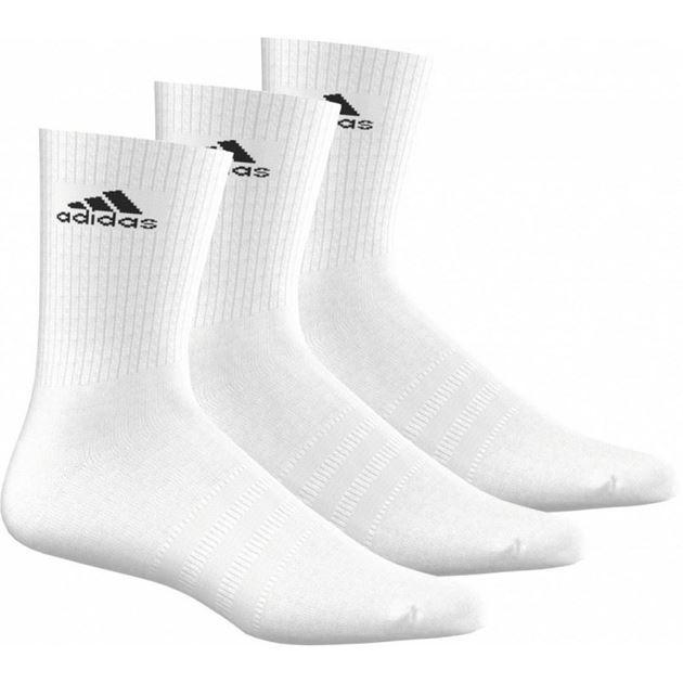 Bilde av Adidas 3 Stripes Perforance Crew Sokker Hvit 3-pack