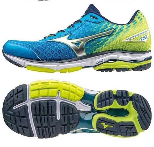 uk availability df497 64670 mizuno wave rider 19 blå gul no sko fra adidas nike og puma nor contact  sport. FOTBALLSKO