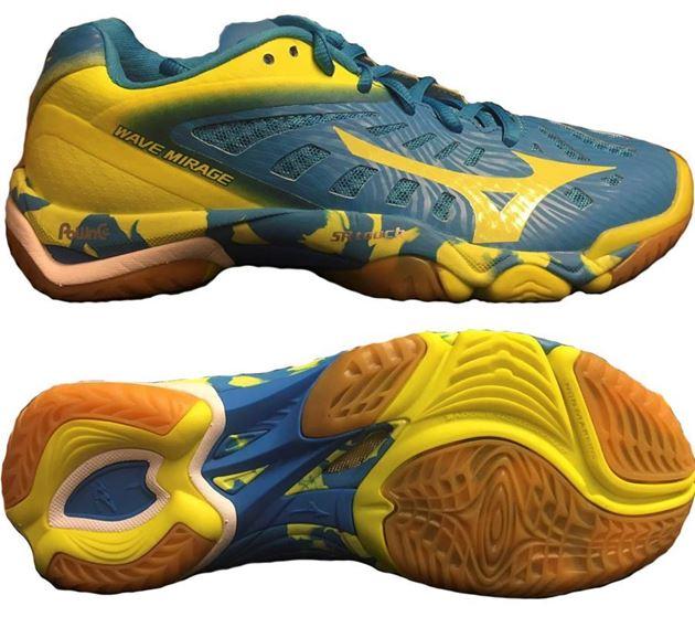 brand new d9b16 98d28 mizuno wave mirage blå gul dame no sko fra adidas nike og puma nor contact  sport. FOTBALLSKO