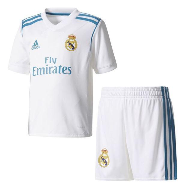 Real Madrid Draktsett 1718 Barn Hjemme