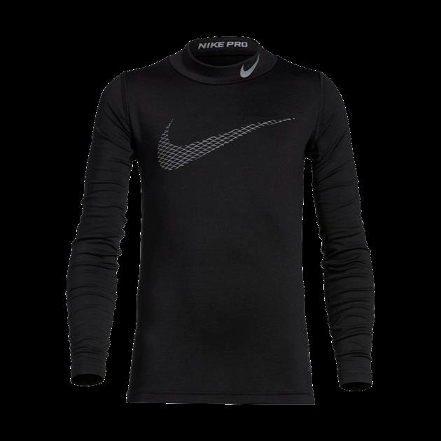 Bilde av Nike Pro Warm Compression Langermet Mock Svart Barn