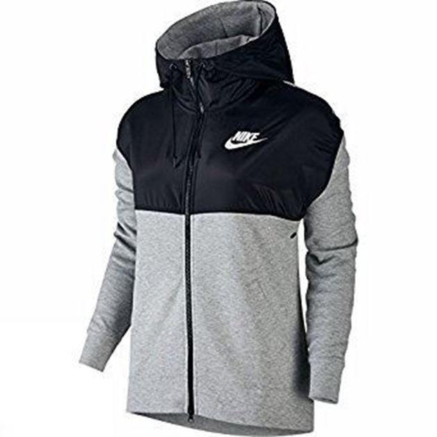 Bilde av Nike Advance 15 Hettejakke Dame Grå