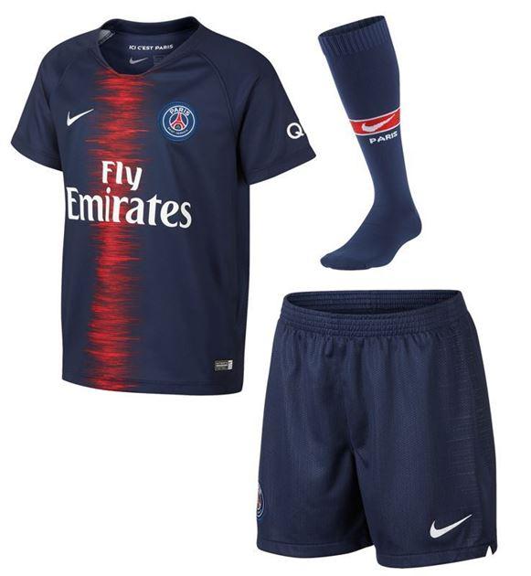 Bilde av Nike PSG Hjemme Boys Mini-Kit 2018/19
