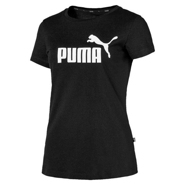 c22886d6 Puma Ess Logo Tee Dame Svart- Fotballsko.no - Sko fra Adidas, Nike ...