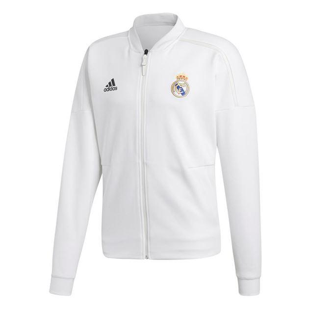 Bilde av Adidas Real Madrid ZNE Jakke Hvit