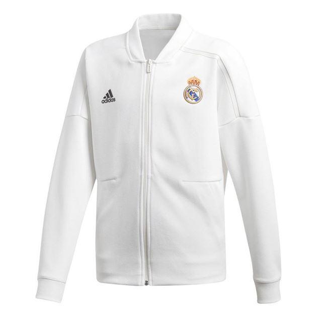 Bilde av Adidas Real Madrid ZNE Jakke Barn Hvit