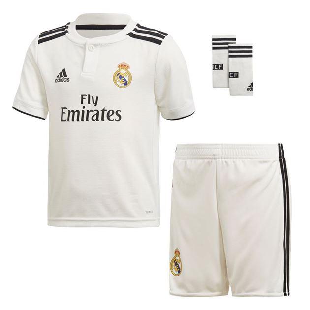 Bilde av Adidas Real Madrid Draktsett Hjemme Små Barn 18/19