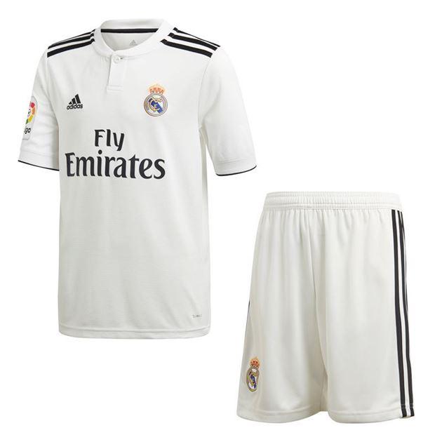 Bilde av Adidas Real Madrid Draktsett Hjemme LFP Barn 18/19