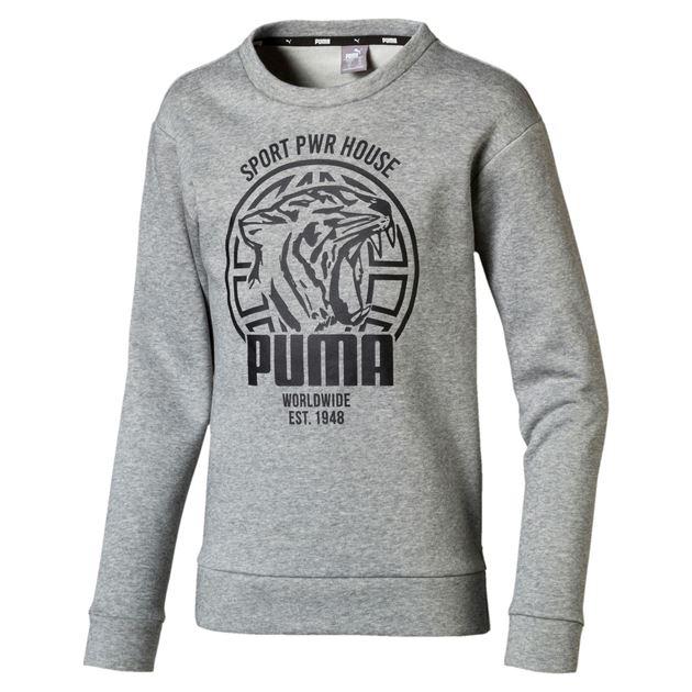Bilde av Puma Alpha Graphic Crew Genser Barn