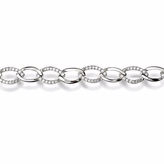 Armbånd i sølv med zirkonia - 24727