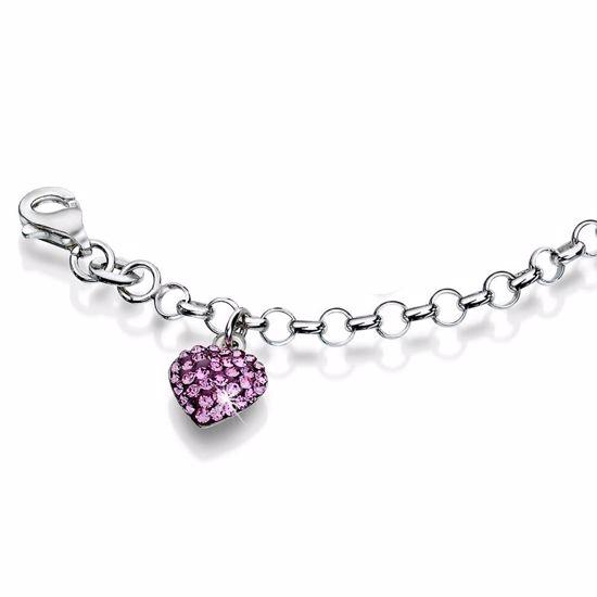 Sølv armbånd med krystaller - 20622