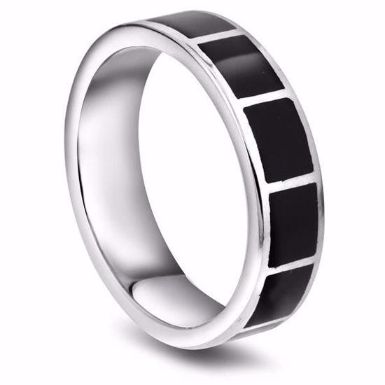Bilde av Herrering i sølv med sort harpiks - 971695