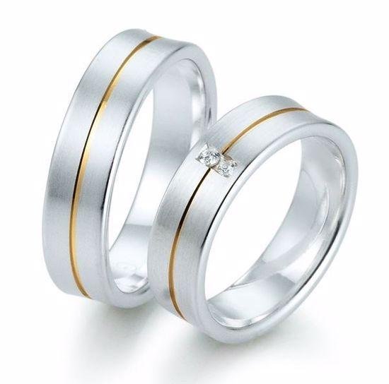 Gifteringer i sølv, 6 mm. GETTMANN - 832160