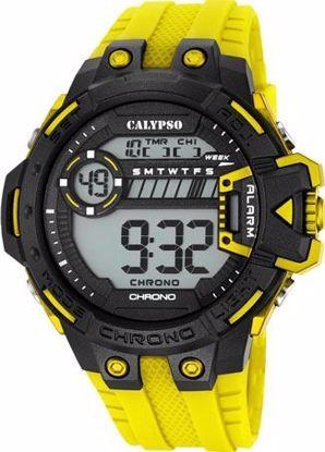 Calypso digital, rem i sort/gul - K5696-1