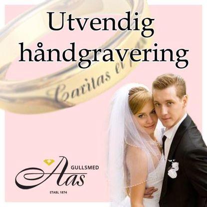 Bilde av Utvendig håndgraveringen til gifteringer fra Orest - 190315