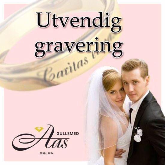 Bilde av Utvendig graveringen til gifteringer fra Orest - 1903151