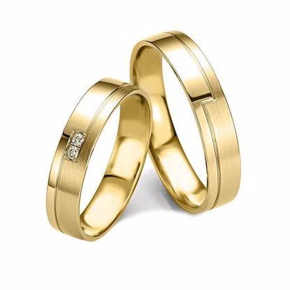 Gifteringer i gull 14 kt, 4.5 mm. Slim line - 48071390