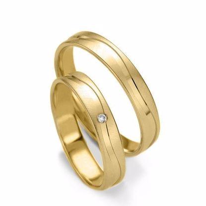 Gifteringer i gull 14 kt, 4 mm. Slim line - 48071310
