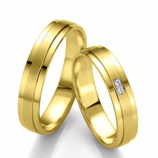 Gifteringer i gull 14 kt, 4.5 mm. Slim line - 480714399