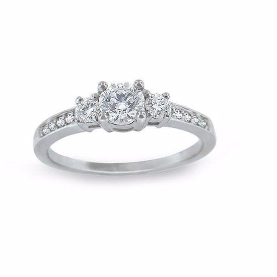 Diamantring - frierring i hvitt gull med 0,43 ct TW-Si-11990043