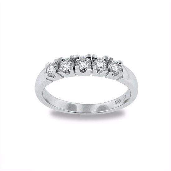 Diamantring i hvitt gull med 0,50 ct TW-Si-12790010