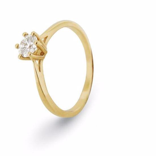 Diamantring i gult gull med 0,30 ct W-Si-11990030