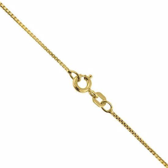 VENEZIANSK gult gulls kjede 42 cm/0.7 mm-100842