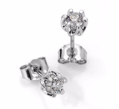 Sitara diamant øredobber med  2/0,37 ct W-Si-422137