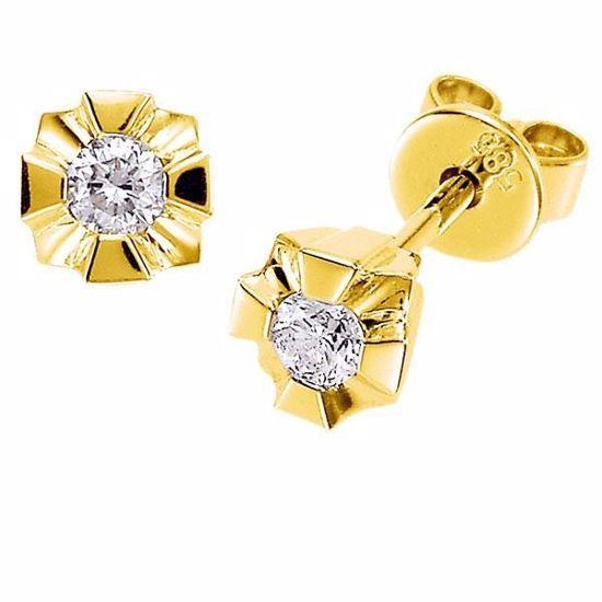 Evita diamant øredobber med  2/0,10 ct W-Si-502100