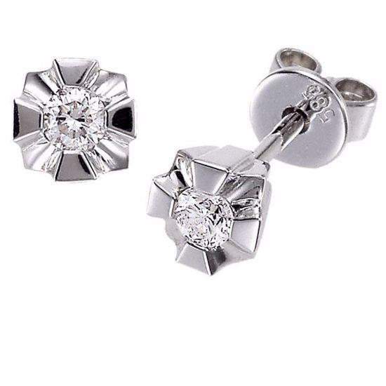 Evita diamant øredobber med 2/0,05 ct W-Si-50205