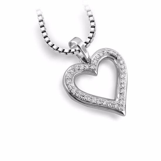 Diamantsmykke i gull med 0,16 ct TW-Si-406152