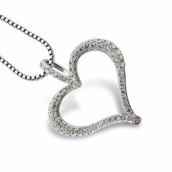 Diamanthjerte i gull med 0,26 ct W-Si - 599026
