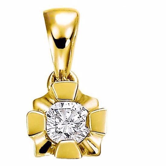 Diamantsmykke Evita i gull med 0,05 ct W-Si-503050
