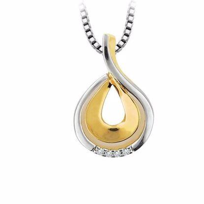 Diamantsmykke i gull med 0,02 ct W-Si-2690002
