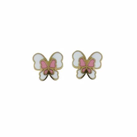Gull øredobber sommerfugler, emaljert-580140
