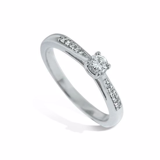 Diamantring i hvitt gull med 0,21 ct W-Si -11100511