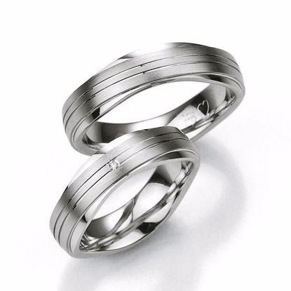 Samboerringer i sølv, 6.5 mm. SØLV MED DIAMANT - 4808013