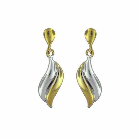 Øredobber i gult & hvitt gull -1490140