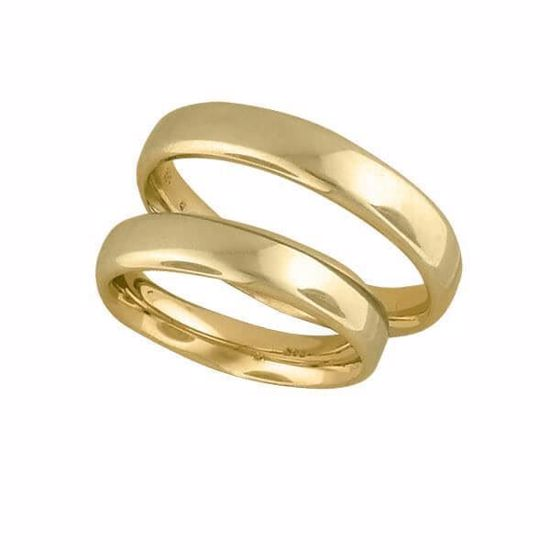 Gifteringer i gull 14kt,4 mm. OREST – 1440