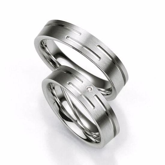 Samboerringer i sølv, 5.5 mm. SØLV MED DIAMANT - 4808001