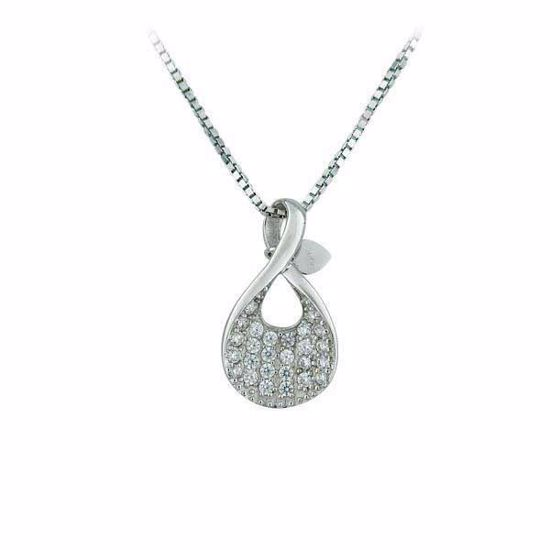 Smykke i sølv med zirkonia - 902155