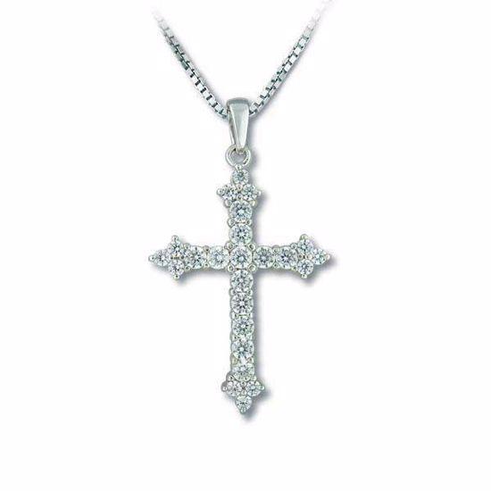 Smykke kors i sølv med zikronia - 1002152