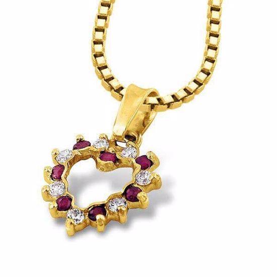 Gullsmykke i gult gull med zirkonia-1106151
