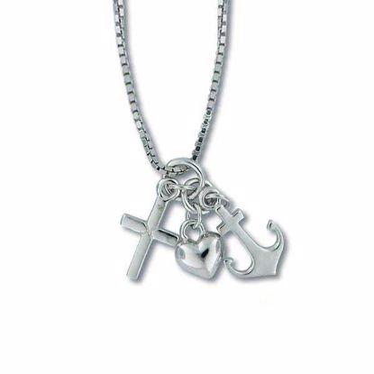 Smykke i sølv med kjede - 2801151