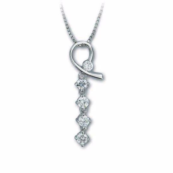 Smykke i sølv med zirkonia - 2901157