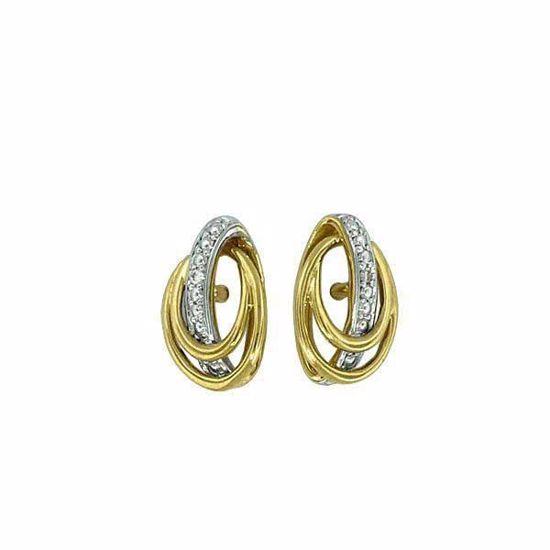 Diamant øredobber i gull med 0,01 ct W-P1 -330439