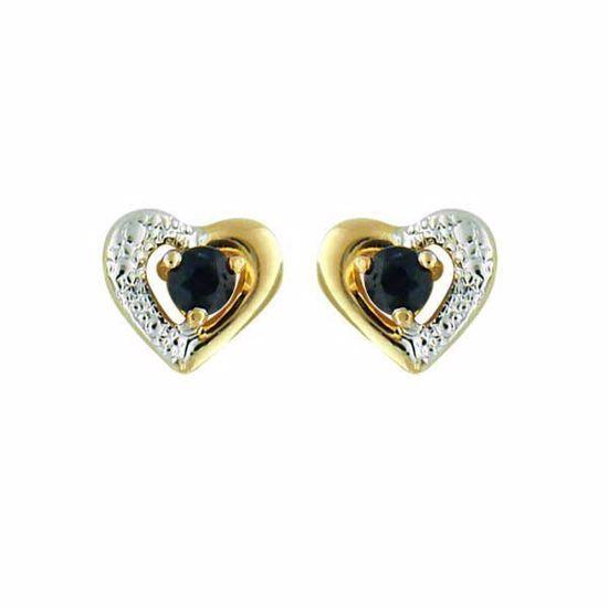 Øredobber gull med sort zirkonia-13901400