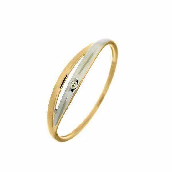 Diamantring i gull med 0,01 ct W-P1-630438