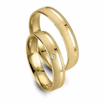 Gifteringer i gull 14 kt, 4.5 mm. Smart line - 4807003